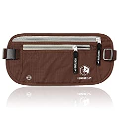 Venture 4th Money Belt - Best Travel Accessories - Lightweight & Comfortable - Ergonomically designed to keep you cool and dry all day- Full Protection - Keeps your cash, credit cards, and passport out of sight- Made to Last - Double Stit...