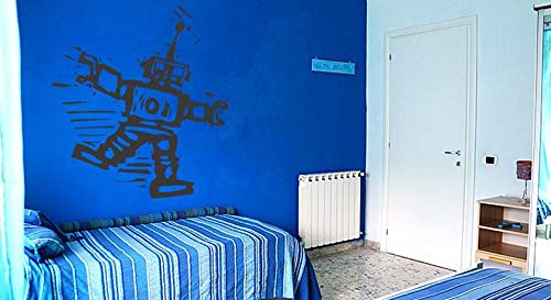 (BYRON HOYLE Wall Decal Sticker Bedroom Robot Spaceman Mechanical Ingineering Kids Girls Boys Teenager Room 567b)
