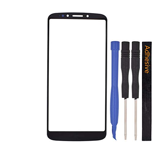 - Double Sure Outer Front Screen Glass Lens Replacement for Motorola Moto E5 Plus(Black)