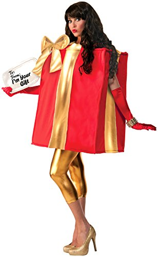 [Forum Novelties The Gift Costume, Red/Gold, One Size] (A Present Costume)
