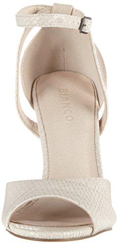 Bianco Stiletto Sandale - Tira de tobillo Mujer Beige (Sand)