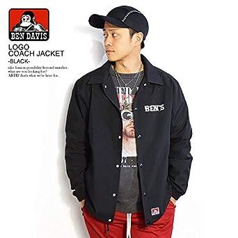 269fba8e7d26 Amazon | (ベンデイビス)BEN DAVIS公式 LOGO COACH JACKET -BLACK- g-9380019 BLACK XL |  コート・ジャケット 通販