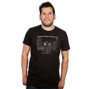 Jinx Minecraft Periodic Table Men's Black Tee Small