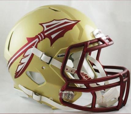 Riddell Sports NCAA Florida State Seminoles Speed Authentic Helmet, Gold