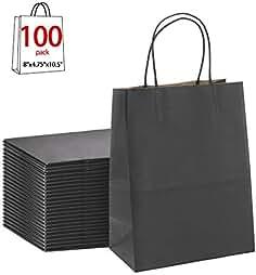 9fc04a20498 Black Gift Bags 8x4.75x10.5