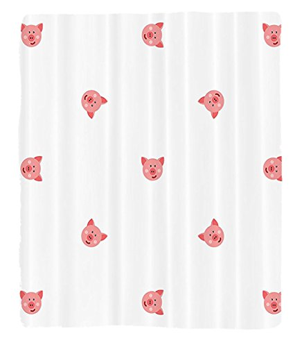 Chaoran 1 Fleece Blanket on Amazon Super Silky Soft All Season Super Plush Pig Decor Collection Pigs Cartoon Happy Hayfield Homestead Nature Happinessymmetrical Design Fabric et almon by chaoran