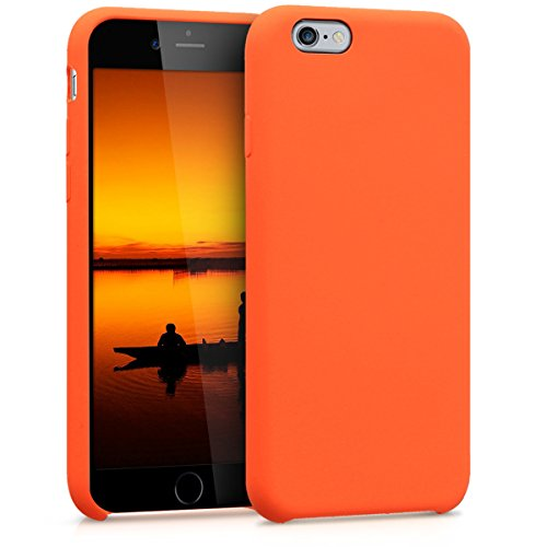 - kwmobile TPU Silicone Case for Apple iPhone 6 / 6S - Soft Flexible Rubber Protective Cover - Orange