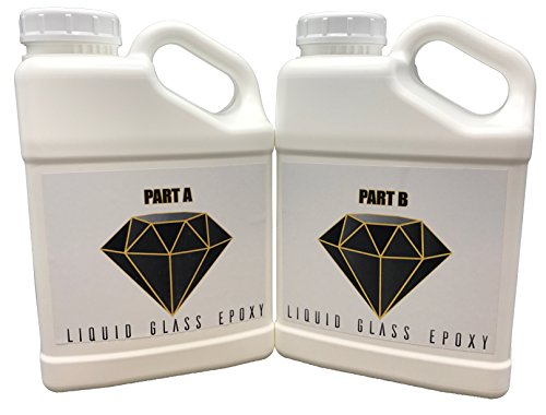 - Crystal Clear Epoxy Resin, Super High Gloss, Super Fluid for Advanced Self Leveling, 40 Min Working time, 1.5 Gallon Kit