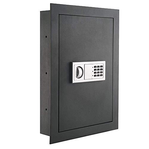tronic Hidden Wall Safe Lock w/ 2 Keys – Heavy Duty Store Gun Cash Jewelry Bills Money Document Hand Mechanical Tool Resist | Sturdy 1/8