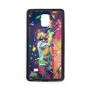Coldplay Samsung Galaxy Note 4 Cell Phone Case Black TPU Phone Case SV_258913