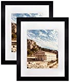 landscape design pictures Set of 2, 11x14 Black Wooden Picture Frame - White Mat for 8x10 Photo - Wall Display - Perfect for Group/Family Photos - Landscape/Portrait - Real Glass - Simple Classic Design