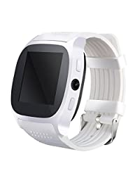 WIM New T8 Bluetooth Smart Watches Support SIM &TF Card With Camera Sync Call Message Men Women Smartwatch Watch For Android (white)