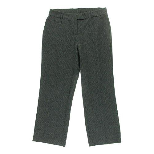 JM Collection Womens Petites Curvier Fit Patteren Dress Pants Black 8P