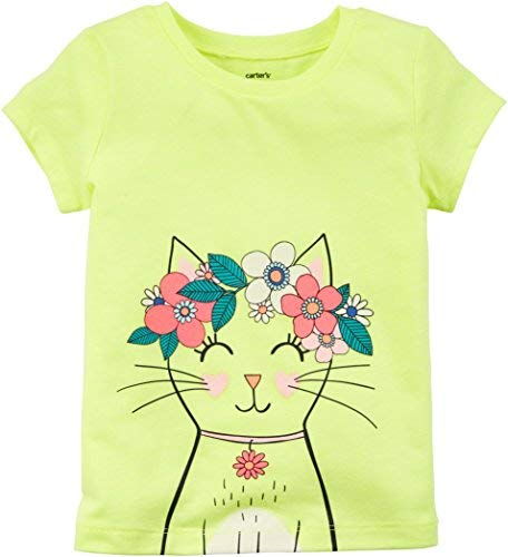 Carter's Girls' 2T-8 Short Sleeve Summer Tees (12 Months, - Short Carters Sleeve Tee