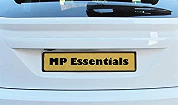 Pack of 1, Black MP Essentials Front or Rear Durable ABS Plastic Car License Number Plate Holder Surround