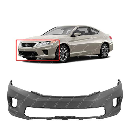 MBI AUTO - Primered, Front Bumper Cover Replacement Fascia for 2013 2014 2015 Honda Accord Coupe 2 Door 13-15, HO1000291 - Honda Accord Coupe Bumper Cover