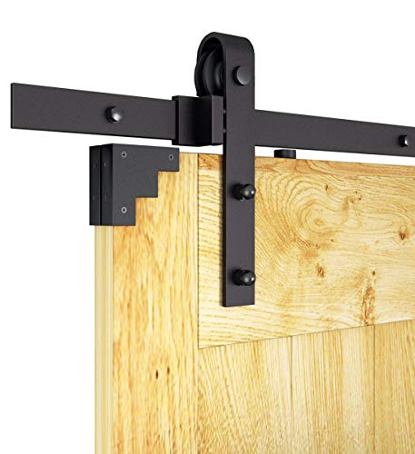 8ft Rustic Black Bent Straight Sliding Barn Wood Closet Door Interior Door Sliding Track Hardware Kit