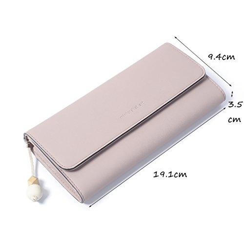 Pink moda Sezione pieghe Borsa 1 borsa CLOTHES delle Wallet fresche piccole Pink Colore due 1 grande lunga studenti nappe portafogli Lady alla RgB8gw