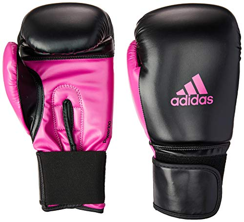 Luva Power 100 SMU Colors, 14 Oz, Adidas, Preto e Rosa