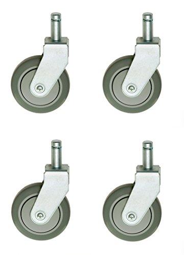 Nexel Polyurethane Wheel Rigid Casters (Set Of 4), 5
