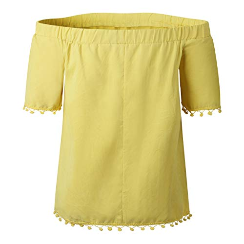 Manches Shirt Manches Yellow Courtes T Gadfjuotg Courtes qAFHw