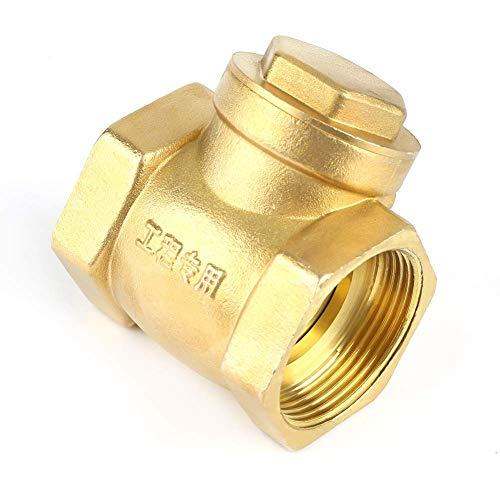 """YASE-king チェックバルブ、DN40 BSP水に使用さ1-1 / 2"""" タイプ232PSIスウィングワンウェイ防止水の逆流耐久性のある女性ねじ真鍮ノンリターンスイングチェックバルブ通常、"""