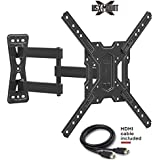 """USX MOUNT XMM006 Full Motion Swivel Articulating TV Mount Bracket for 26-55"""" LED, OLED, 4K TVs-Fit for 32, 40, 50 TV with VESA 75x75mm, 100x100mm, 200x200mm, 400x400mm-Weight Capacity Up to 60lbs"""
