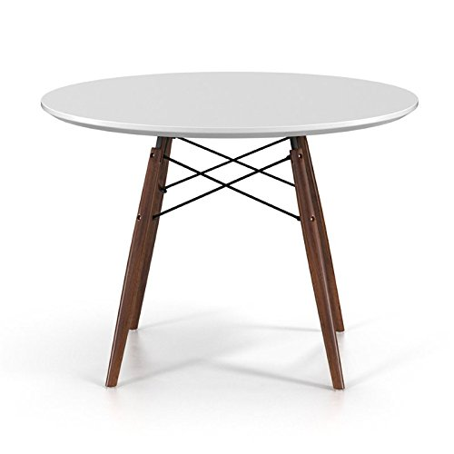 Aeon Furniture Parisian Dining Table in White and Walnut 41gfj6SyIJL