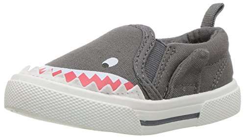 Carter's Boys' Damon Casual Slip-on Sneaker, Grey, 10 M US Toddler