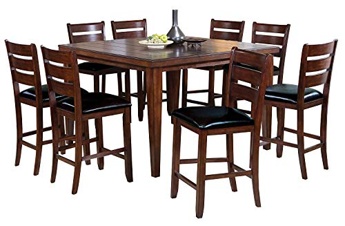 acme 00680 Urbana Counter Height Dining Table, Cherry Finish