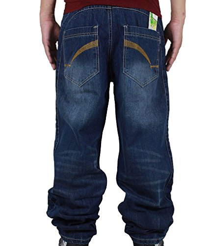 Ghope Homme Hip Hop Baggy Jeans Loose Street Style Denim Long Combat Pantalons Denim