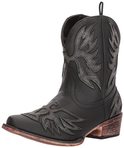 Roper Women's Amelia Western Boot, Black, 8 Medium US - Roper Leather Fashion Boots