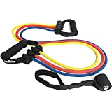 Resistance Band Set for Exercise – Fitness and Crossfit Training – Single And Adjustable Handles – Sold Individually or as Set Review