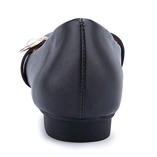 COOLCEPT Damen Geschlossene Flach Pumps Black