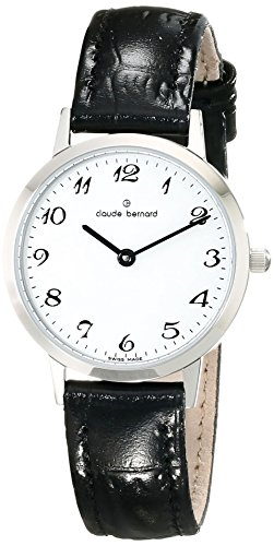 Claude Bernard Women's 20201 3 BB Classic Ladies - Slim Line Analog Display Swiss Quartz Black Watch