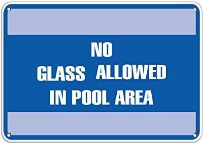No Brand No Glass Allowed In Pool Area Pool Schilder Aluminium Metallschild