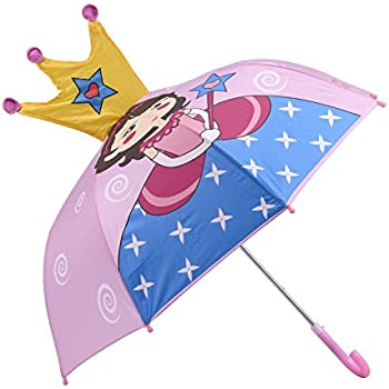 Micaddy Kidorable Princess Pop up Umbrella for Kid with Safety Open and Close by Age 3-7