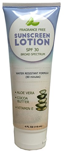 Spf Sunscreen 45 Defense (Sunscreen Broad Spectrum Protection with SPF 30 - UVA/UVB Defense – Aloe Vera Based Formula – Water Resistant for 80 Minutes – Infused with Antioxidants – Paraben Free – For Women & Men by Honeydew)
