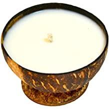 Vasaana Soy Mango Natural Candle in Coconut Shell, 5.5 oz