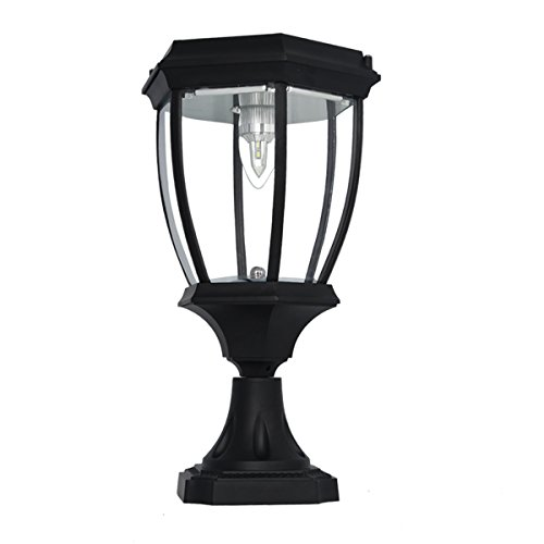 Large Outdoor Solar Powered LED Light Lamp - Column Outdoor Light