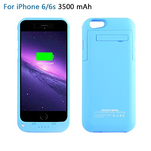 YHhao 3500mAh Charger Case for iPhone 6 / 6s Slim Extended Battery Case Portable Cell Phone Battery Charger Back up Power Bank Rechargeable Charger Case with Stand 4.7
