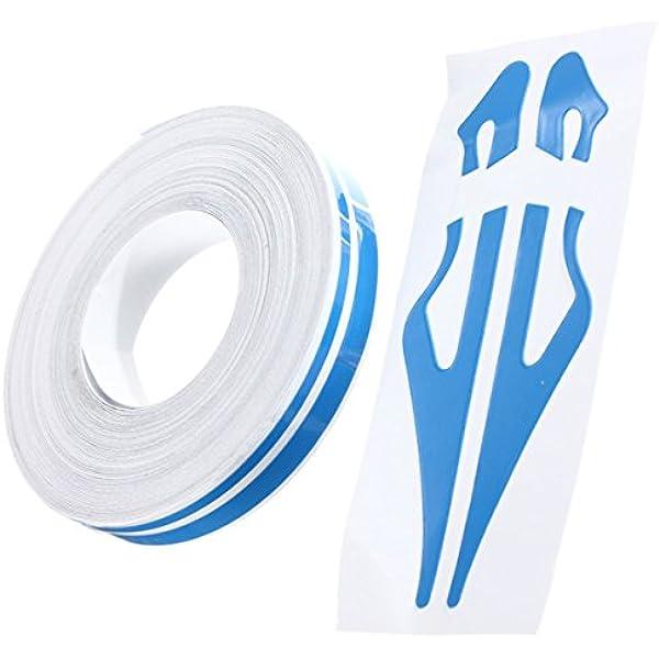 Alamor Etiquetas Adhesivas De Cinta De Vinilo De 1/2 Pulgadas Pin Striping Pegatinas De 12 Mm para Coches Motocicletas-Azul: Amazon.es: Hogar