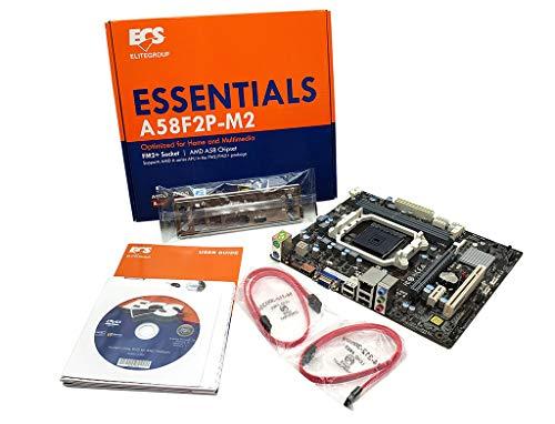 - ECS A58F2P-M2 V1.0 AMD A58 Chipset FM2+ Socket Dual DDR3 SATA 3GB/S Micro ATX Motherboard