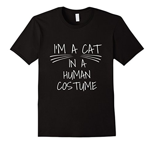 [Men's I'm a Cat in a Human Costume! Funny Kitty T-Shirt Small Black] (Funny Human Cat Costumes)
