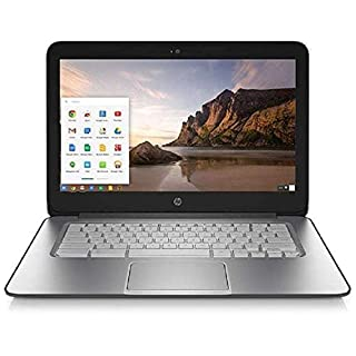 "HP Chromebook G1 14"" Intel Celeron Dual Core, 1.4GHz, 4GB Ram, 16GB SSD Laptop - Black/Silver - J2L41UT#ABA (Renewed)"