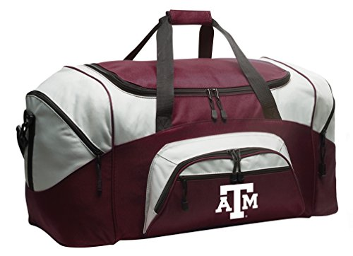 - Broad Bay Texas A&M Aggies Gym Bag Deluxe Texas A&M Duffle Bag