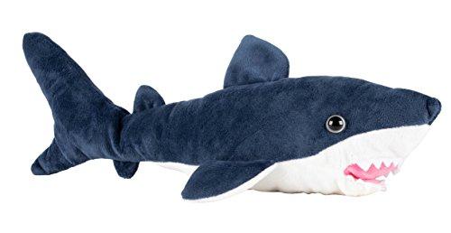 Shark Plush Toy - Blue Shark Stuffed Animal for Kids Birthday Gift, Baby Shower Present, 14 x 4.75 x 3.5 Inches