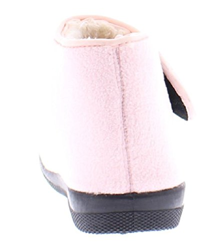 Shoes Memory Adjustable Toe Wide Orthopedic Foam House Womens Bootie Wrap Slipper Strap Gold Pink B7zqwgq