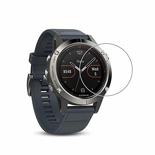 YANSHG For Garmin Fenix 5 Watch Tempered Glass Screen Protector, Anti-scratch Ultra Clear 9H Tempered Glass Protector