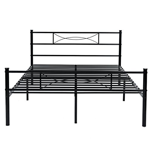 Black-Full-Twin-Size-Metal-Bed-Frames